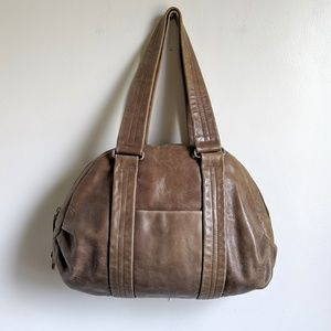 Latico Leather Pleated Detail Duffle Shoulder Bag